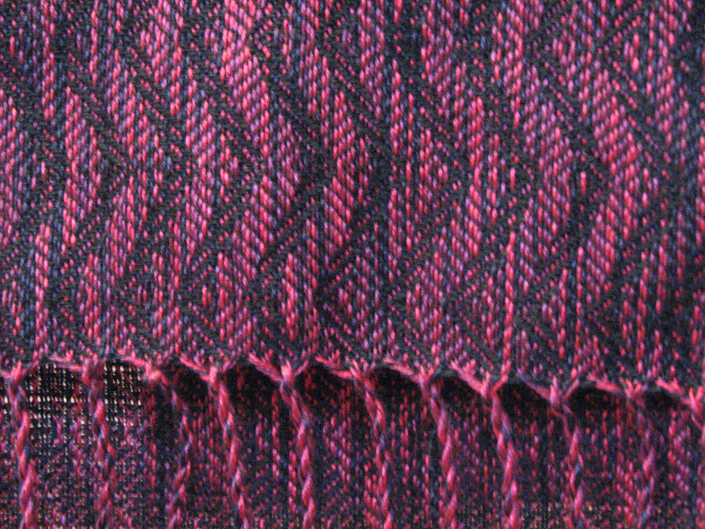 8/2 Tencel scarf after fringing